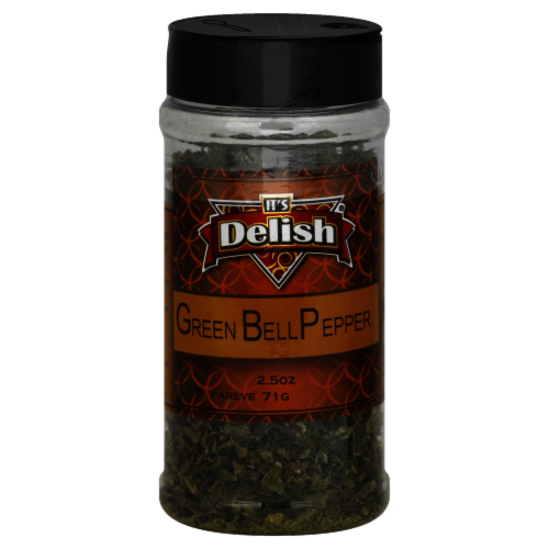 It's Delish Green Bell Pepper Perspective: front