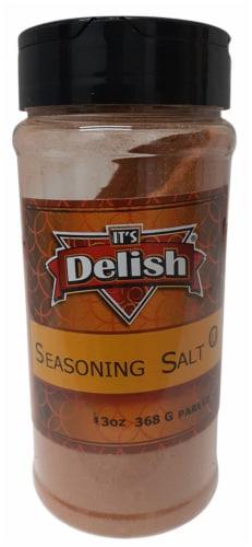 It's Delish Seasoning Salt Perspective: front