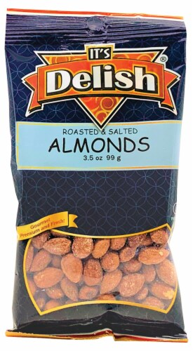 It's Delish Roasted & Salted Almonds Perspective: front
