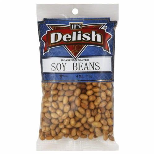 It's Delish Roasted & Salted Soy Beans Perspective: front