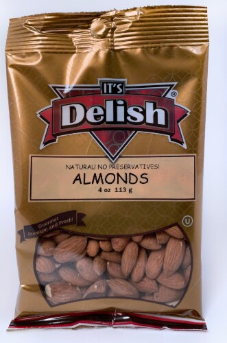 It's Delish Almonds Perspective: front