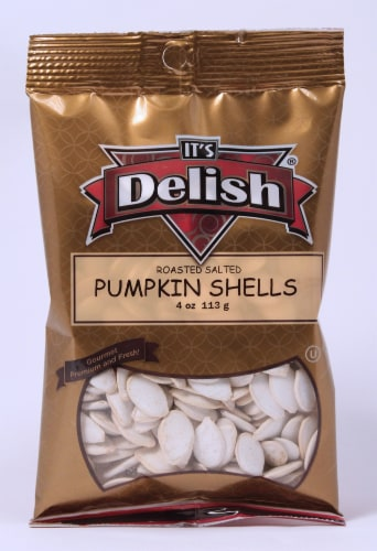 It's Delish Roasted Salted Pumpkin Shells Perspective: front