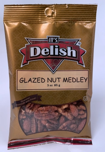 It's Delish Glazed Nut Medley Perspective: front