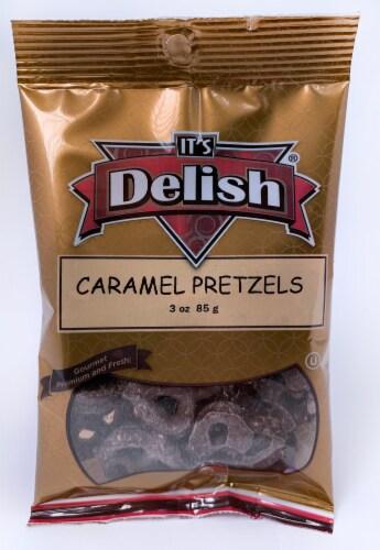 It's Delish Caramel Pretzels Perspective: front