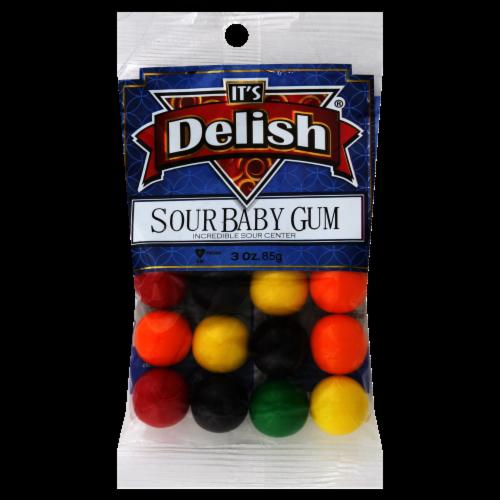 It's Delish Sour Baby Gum Perspective: front