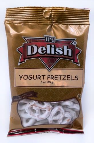 It's Delish Yogurt Pretzels Perspective: front