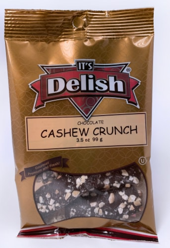 It's Delish Chocolate Cashew Crunch Perspective: front