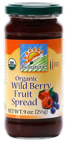 Bionaturae Organic Wild Berry Spread Perspective: front