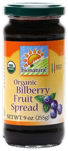 Bionaturae Organic Bilberry Fruit Spread Perspective: front