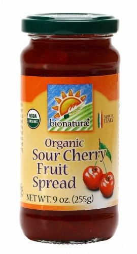 Bionaturae Organic Sour Cherry Fruit Spread Perspective: front