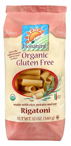 Bionaturae Organic Gluten Free Rigatoni Perspective: front