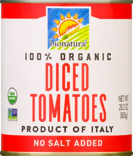 Bionaturae Organic Diced Tomatoes Perspective: front