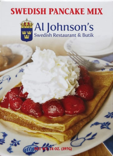 Al Johnson's Swedish Pancake Mix Perspective: front