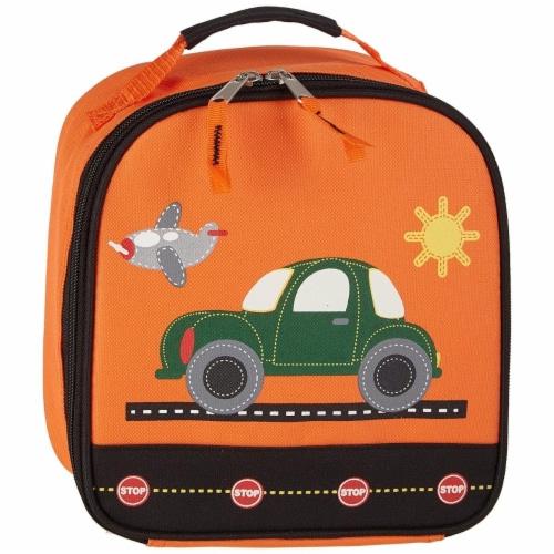 Aquarella Kids LT2378 Orange & Black Boys Transportation Lunchbox Perspective: front