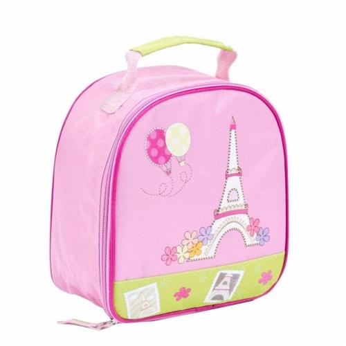 Aquarella Kids LP2392 Pink & Green Girls Paris Lunchbox Perspective: front