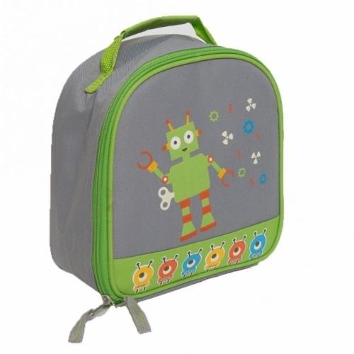 Aquarella Kids LRB2774 Gray & Green Boy Lunchbox Perspective: front