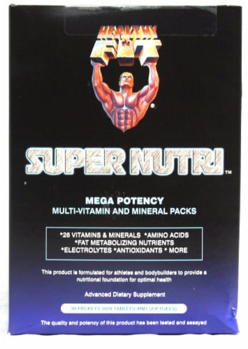 Healthy'N Fit Nutritionals  Super Nutri™ Mega Potency Multi-Vitamin and Mineral Packs Perspective: front