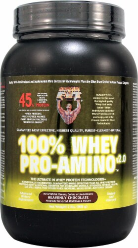 Healthy'N Fit Nutritionals  100% Whey Pro-Amino™ v 2.0   Heavenly Chocolate Perspective: front
