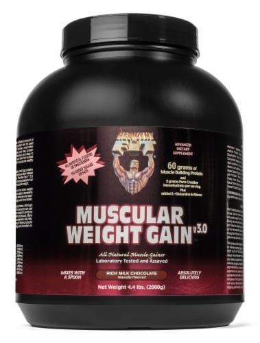 Healthy N Fit Milk Chocolate Muscular Weight Gain Supplement Perspective: front