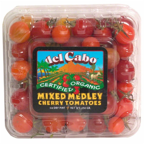 Organic Cherry Tomatoes Del Cabo Mixed Medley Perspective: front