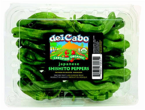 Del Cabo Organic Japanese Shishito Peppers Perspective: front