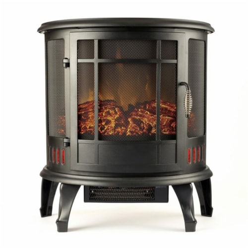 Gibson Living LW8050CRV-GL 22 in. Heater Ventless Curved Electric Fireplace Stove Perspective: front