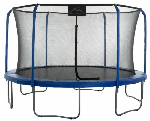 """""""SKYTRIC"""" 13 FT. Trampoline with Top Ring Enclosure System with the """"EASY ASSEMBLE FEATURE"""" Perspective: front"""