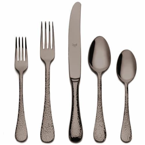 Mepra 106822005ON Stainless Steel Place Setting - Epoque Oro Nero - 5 Piece Perspective: front