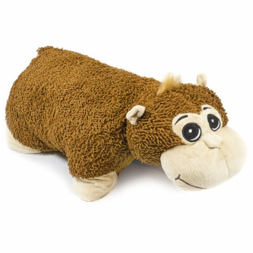 Giftable World QY100906-M 23 in. Plush Monkey Pillow Perspective: front