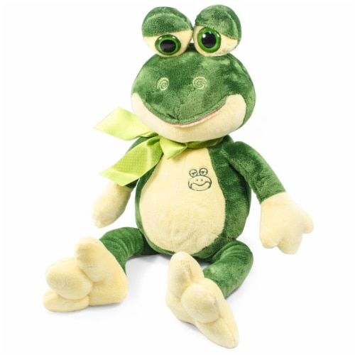 Giftable World AY120009 10.5 in. Frog with Ribbon Perspective: front