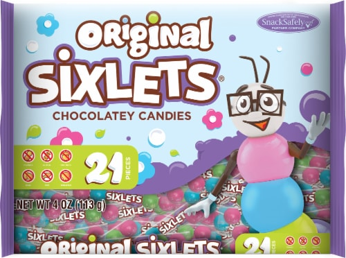 Sixlets Chocolatey Candies Perspective: front