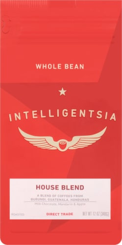 Intelligentsia House Blend Roasted Whole Bean Coffee Perspective: front