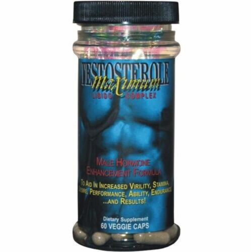 Maximum International Testosterone Maximum Libido Complex Capsules Perspective: front