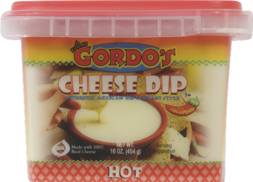 Gordo's Hot Mexican Resturant Style Cheese Dip Perspective: front