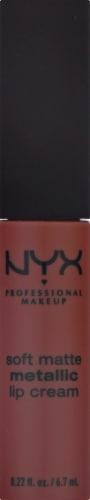 NYX Professional Makeup SMMLC09 Rome Soft Matte Metallic Lip Cream Perspective: front