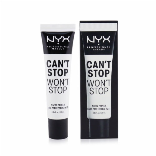 NYX Professional Makeup Can't Stop Won't Stop Matte Primer Perspective: front