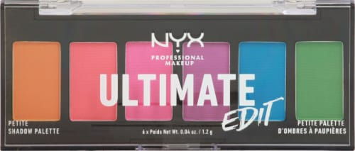 NYX Professional Makeup Ultimate Edit Brights Eyeshadow Palette Perspective: front