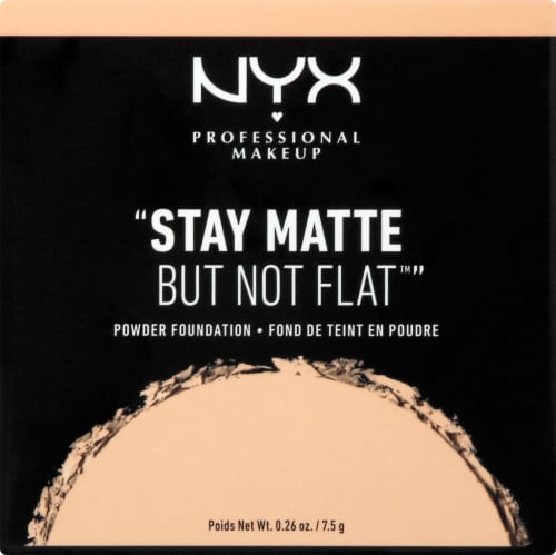 NYX Professional Makeup Stay Matte But Not Flat Natural Powder Foundation Perspective: front
