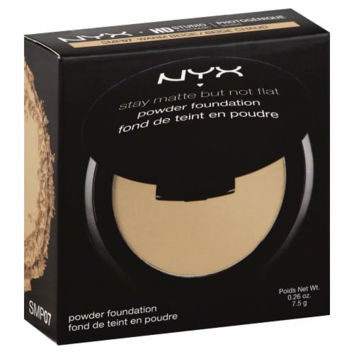 NYX Professional Makeup Stay Matte But Not Flat Warm Beige Powder Foundation Perspective: front