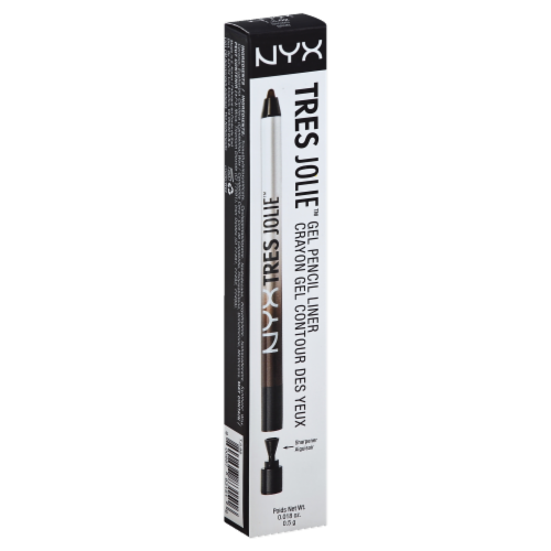 NYX Professional Makeup Tres Jolie Brown Gel Pencil Liner Perspective: front