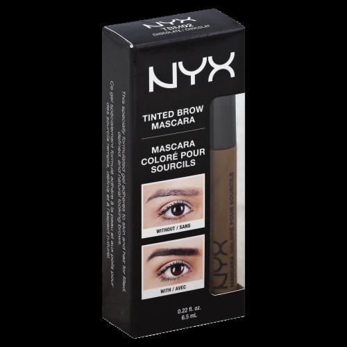 NYX Professional Makeup Chocolate Tinted Brow Mascara Perspective: front
