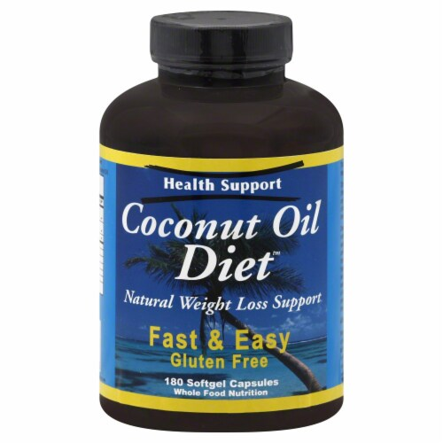 Health Support Coconut Oil Perspective: front