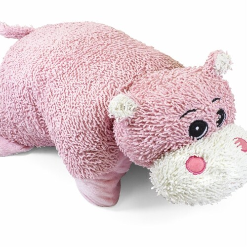 Giftable World QY100906-H 23 in. Hippo Pillow Perspective: front