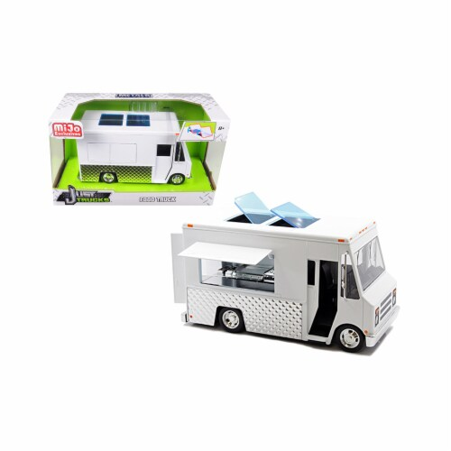 Jada Toys 30211 Food Truck Just Trucks Diecast Model Series, White Perspective: front
