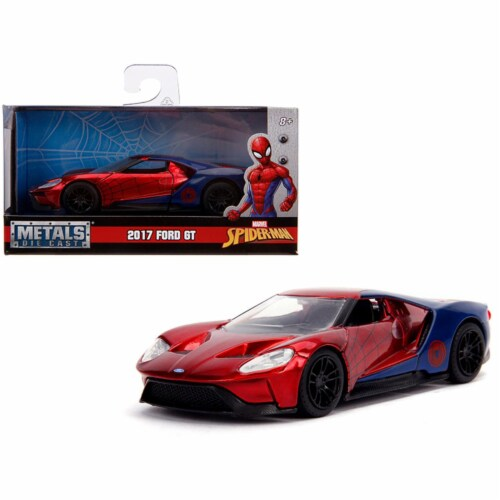 Jada 30291 2017 Ford GT Spider-Man Theme Marvel Series 1-32 Diecast Model Car Perspective: front