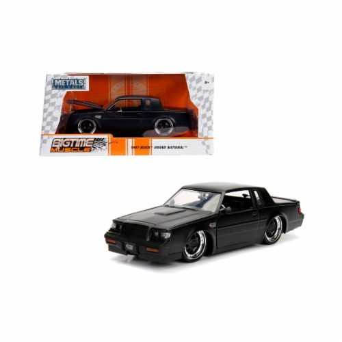 Jada 30342 1987 Buick Grand National Matte Black 1-24 Diecast Model Car Perspective: front
