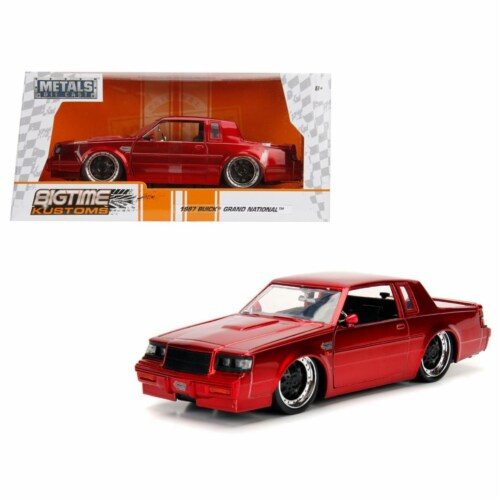 Jada 30343 1987 Buick Grand National Candy Red 1-24 Diecast Model Car Perspective: front
