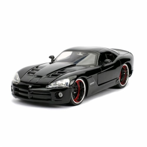 Jada 30731 Lettys Dodge Viper SRT 10 Fast & Furious Movie 1 by 24 Diecast Model Car, Black Perspective: front