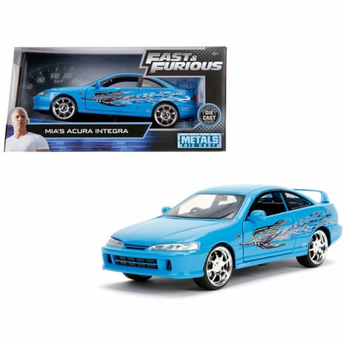 Jada 30739 1 by 24 Scale Diecast for Mias Acura Integra Right Hand Drive Model Car - Blue Perspective: front