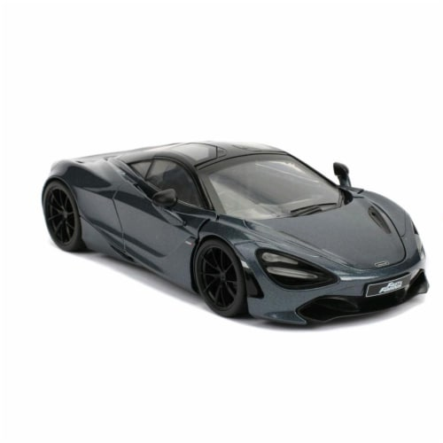 Jada 30754 Shaws McLaren 720S RHD Right Hand Drive Metallic Gray Fast & Furious Presents Hobb Perspective: front